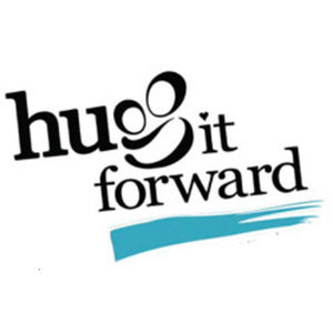 hug it forward, logo